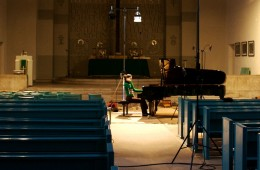 CD Production Olga Scheps / Sony 2009 at Christuskirche Berlin. Olga playing