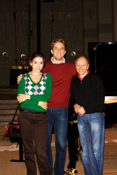 CD Production Olga Scheps / Sony 2009 at Christuskirche Berlin. With Olga and Gerd Finkenstein