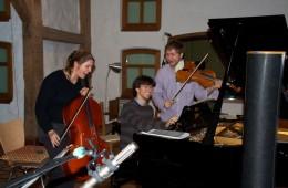 CD Production Nils Mönkemeyer / Sony 2009 at Fattoria Musica Osnabrück. Later the evening with guest cellist Hannah Weber…