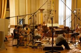 CD Production Nils Mönkemeyer / Sony 2010 at Siemensvilla Berlin. The Kammerakademie Potsdam is rehearsing