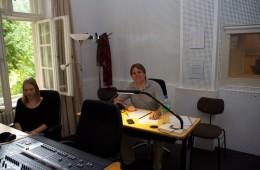CD Production Nils Mönkemeyer / Sony 2010 at Siemensvilla Berlin. The producer desk…