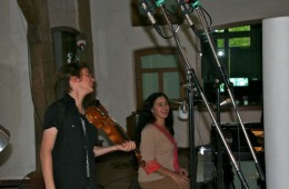 CD Production Elin Kolev / Sony 2011 at Fattoria Musica Osnabrück. Recording Elin and Milana