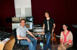 CD Production Elin Kolev / Sony 2011 at Fattoria Musica Osnabrück. With Elin Kolev and Milana Chernyavska