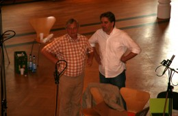 CD Production Elin Kolev / Sony 2011 in Coswig. Chatting with conductor Helmut Branny
