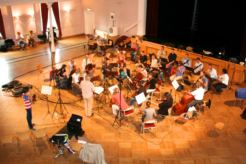 "CD Production Elin Kolev / Sony 2011 in Coswig. Recording the great ""Dresdner Kapellsolisten"" and conductor Helmut Branny"