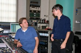 "Music recordings for ""La Nuit Nomade"" 2011 at Vox Studio Bendestorf. Discussion with composer Olivier Bernet"
