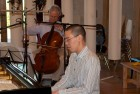 CD Production Niklas Schmidt / FCI 2012 at Fattoria Musica Osnabrück. Niklas Schmidt and Pianist John Chen in the recording room