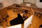 "CD Production with Lisa Schatzman and Benjamin Engeli / Claves 2013 at ""Alte Kirche"" Boswil / Switzerland. The setup"