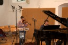 """CD Production with Lisa Schatzman and Benjamin Engeli / Claves 2013 at """"Alte Kirche"""" Boswil / Switzerland. Royer R-122V Microphones for the violin"""