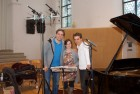 "CD Production with Lisa Schatzman and Benjamin Engeli / Claves 2013 at ""Alte Kirche"" Boswil / Switzerland. With Lisa and Benjamin after the recordings were done"
