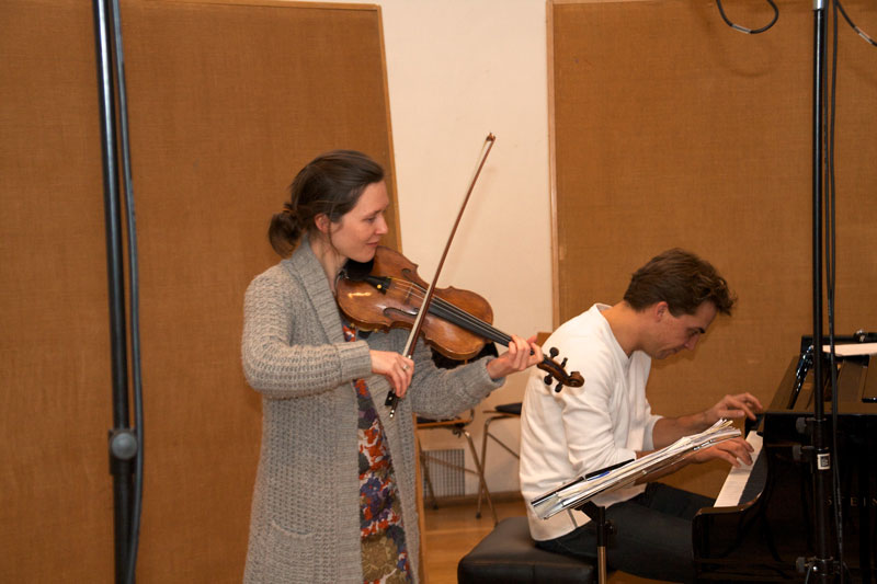 """CD Production with Lisa Schatzman and Benjamin Engeli / Claves 2013 at """"Alte Kirche"""" Boswil / Switzerland"""