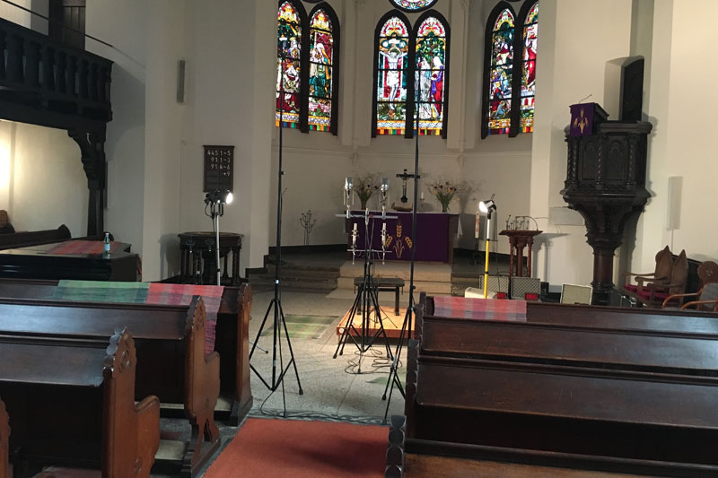 CD Production with Niklas Schmidt 2016 at Andreaskirche Berlin.