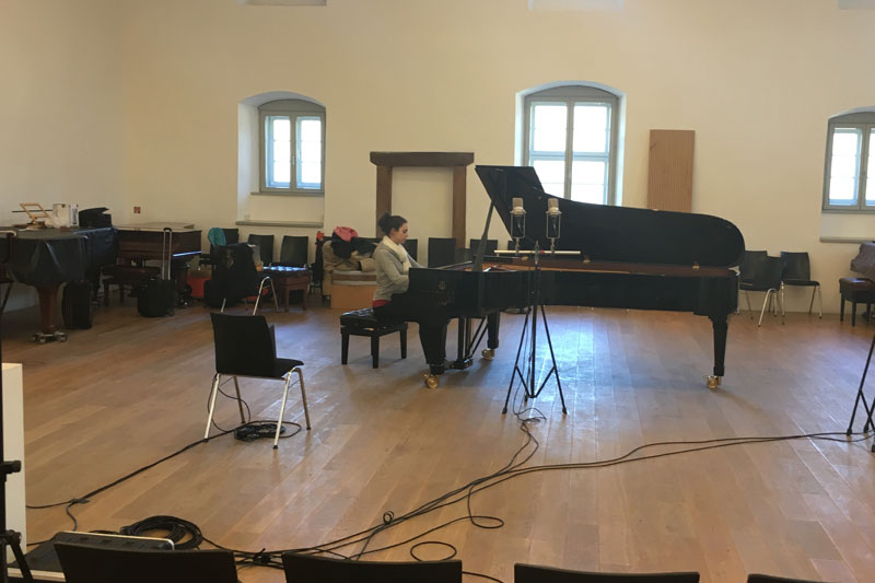 CD Production with Olga Scheps / Sony 2016 at Abtei Marienmünster