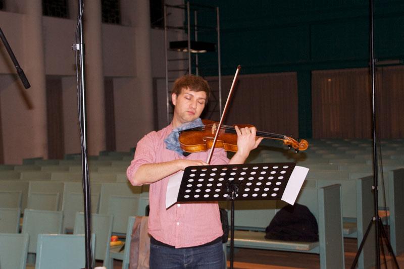CD Production with Nils Mönkemeyer / Sony 2014 at Jesus Christus Kirche Berlin Dahlem